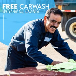 free car wash with oil change